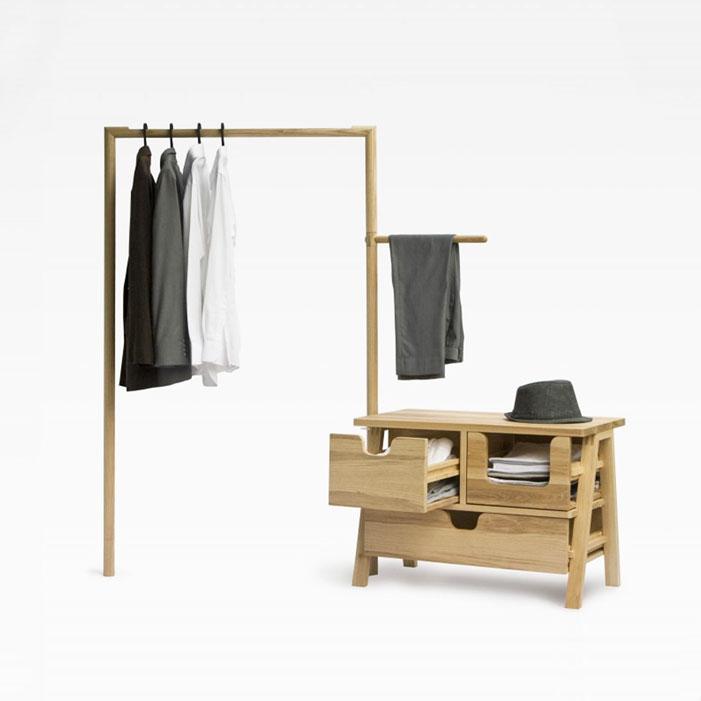 7-day-closet-oak-wooden design