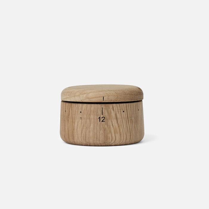 wood tea timer