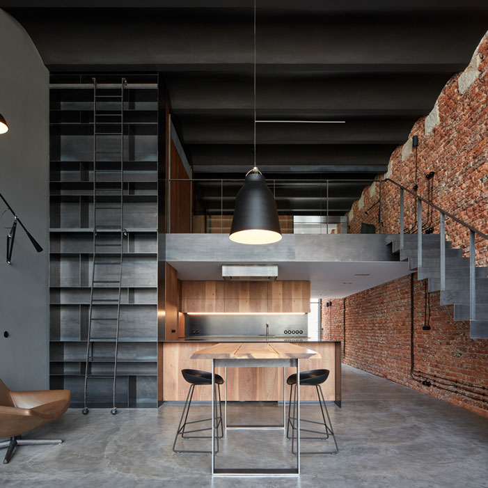 Loft-With-Love-modern-black-paint-wood-brick-design